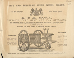 Advert For E. H. Hora, Carriage & Cart Builder